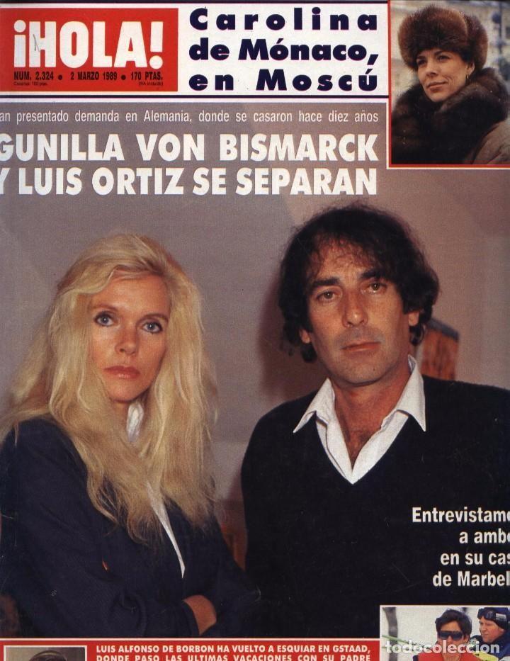 REVISTA HOLA Nº2324 3-03-1989 DUQUESA DE YORK EN CASA DE LA BARONESA NADINE ROTHSCHILD EN ALPES