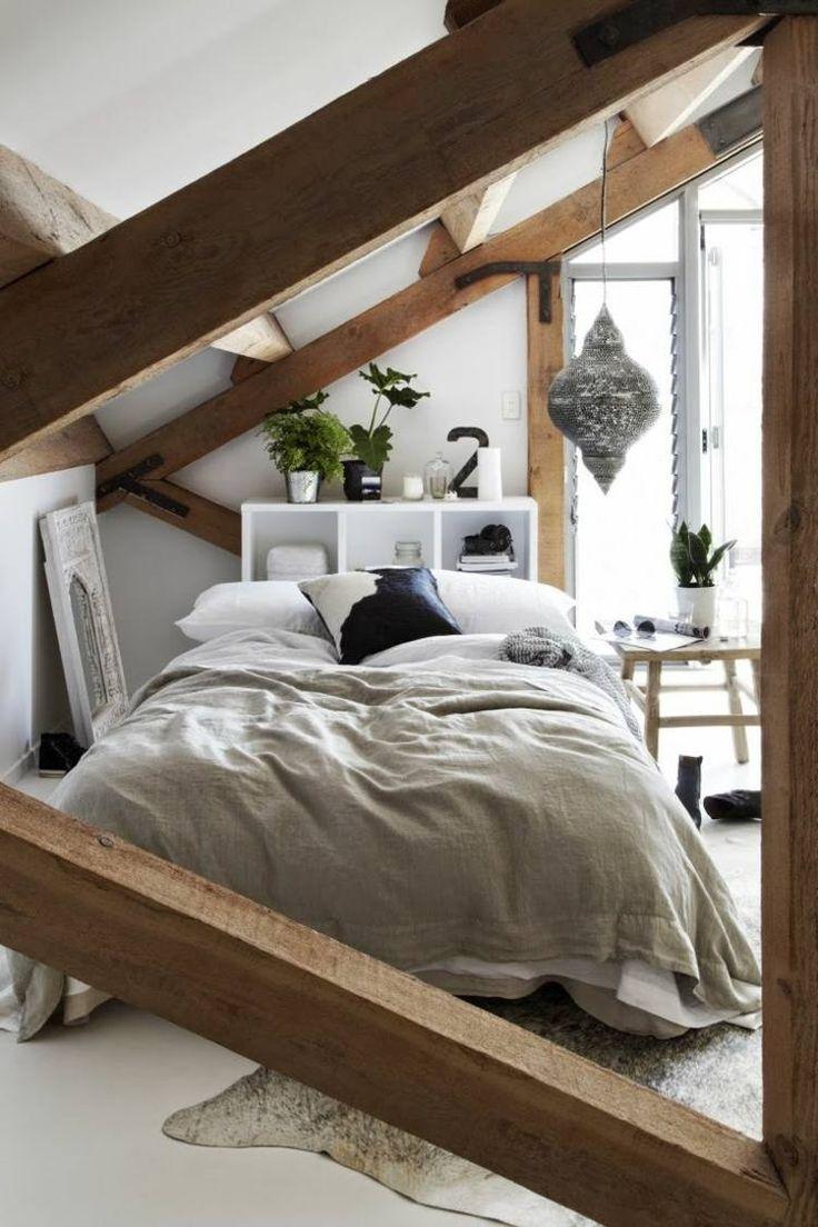 aménagement de chambre à coucher sous le toit