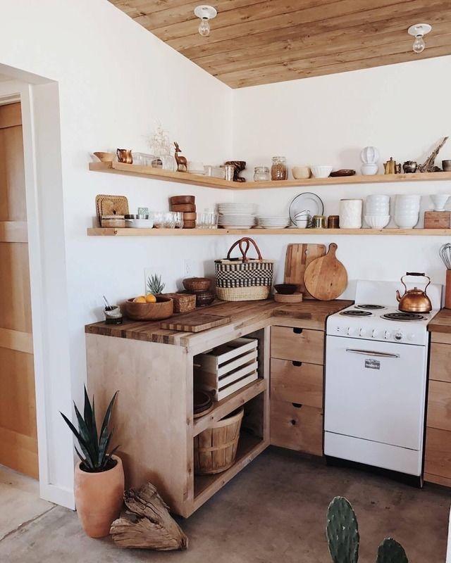 pinterest rach – küche, simpel, naturholz, exponierte regale, böhmisch