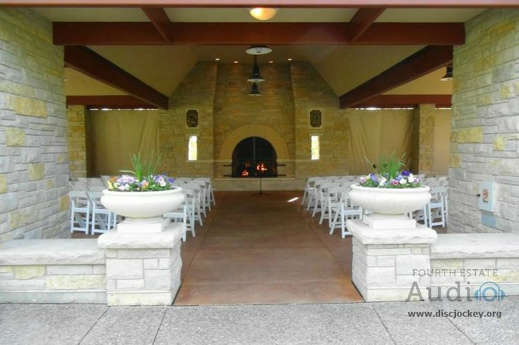 The Pavilion at the Redfield Estate awaits its wedding guests for a beautiful fireside ceremony. http://www.discjockey.org/site/epage/152666_895.htm.