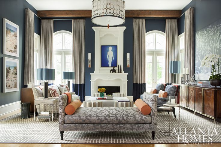 Atlanta Symphony Associates' Decorator Showhouse Tour: Den by Vern Yip Designs via Atlanta Homes | Scotch and Nonsense