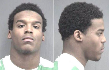 Cam Newton  2008 - Charged with grand theft, burglary, and obstructing justice in connection with the boosting of a Dell laptop.