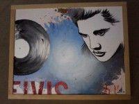 MITI_ Il Re del Rock: acrilico su cartone telato ed è un 50 x 40 cm altro mito assoluto della musica in genere ma il primo rivoluzionario che inventa un genere tutto nuovo che ispirerà una generazione.