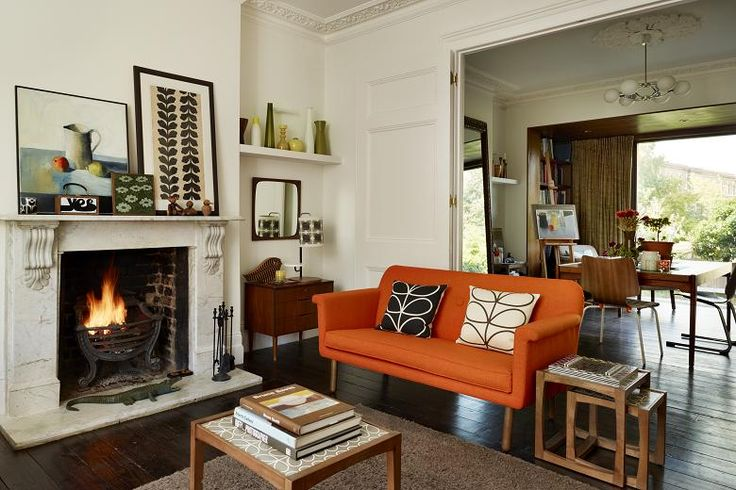 Inside Orla Kiely's house The sitting room. Photographed by Darren Chung