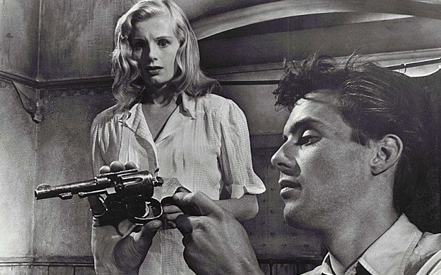 Peggy Evans with Dirk Bogarde in The Blue Lamp, 1950