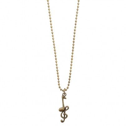 Musical Necklace Bronze - Clef Note from Pentatonic Music - Rp 38.000