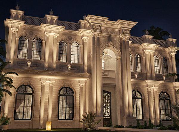 Classic Villa Design On Behance Villa Design Exterior Design Classic House Design