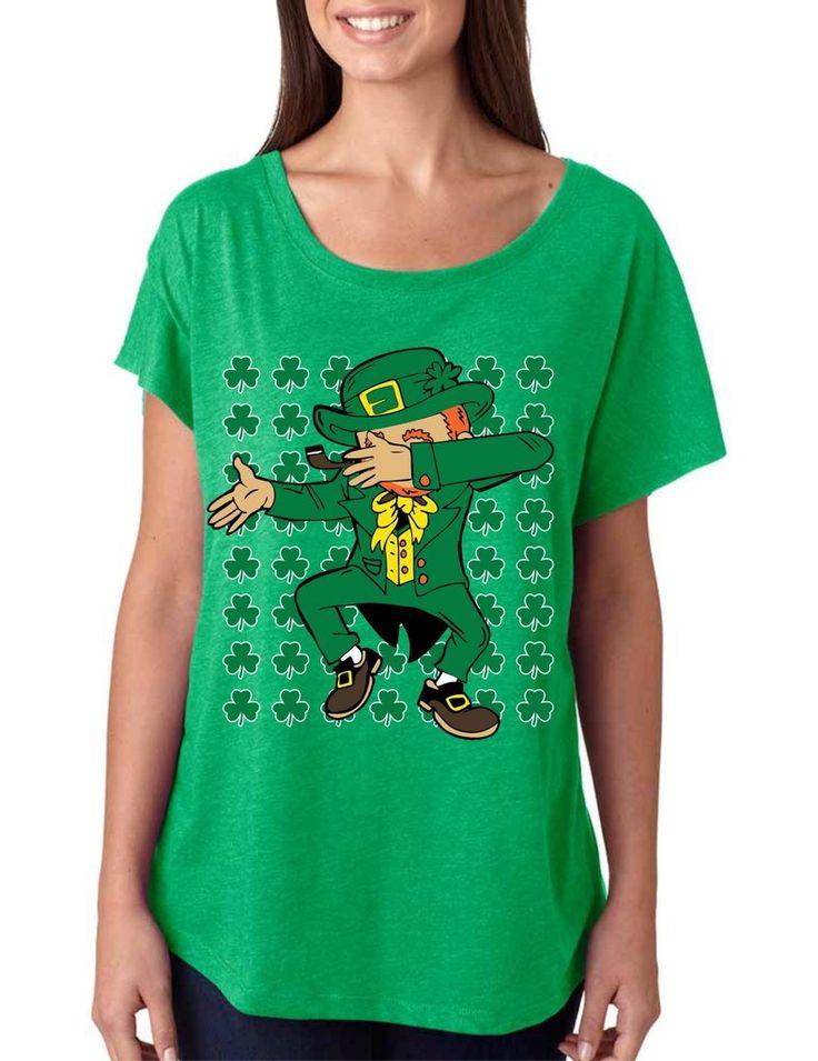 Dabbing Irish Leprechaun St patrick triblend dolman shirt - ALLNTRENDSHOP