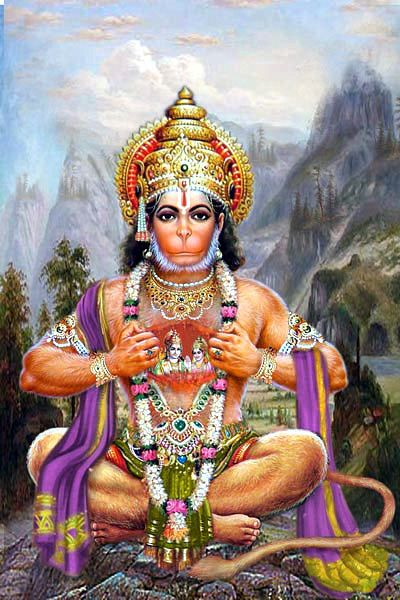 Hindu God of War Hanuman