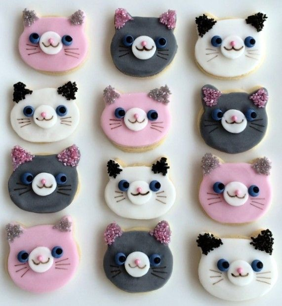 Benny the Cat cookie tutorial - my girls would love kitty cookies!