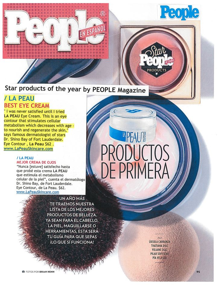 LA PEAU Skincare Eye Contour won BEST EYE CREAM competition by People Magazine en Español . Star products of the year: LA PEAU BEST EYE CREAM #BestEyeCream #BestAntioxidant #BestantiAging !Thank you Dr. Shino Bay Aguilera