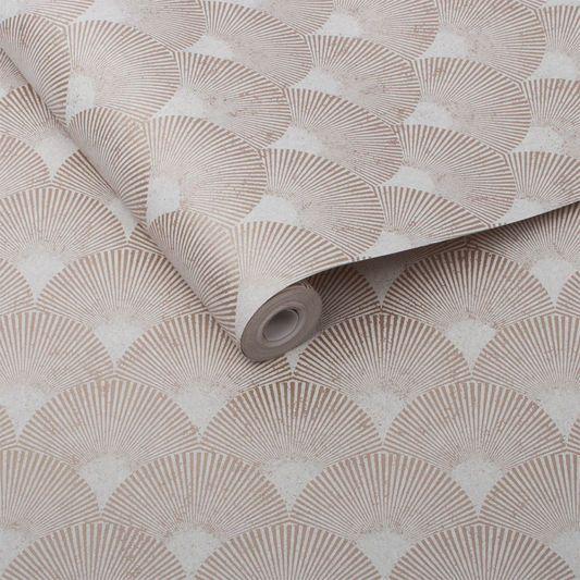 Fan Rose Gold Wallpaper, , large