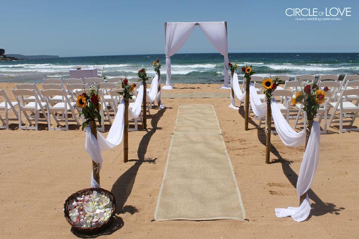 Whale Beach Wedding www.circleofloveweddings.com.au