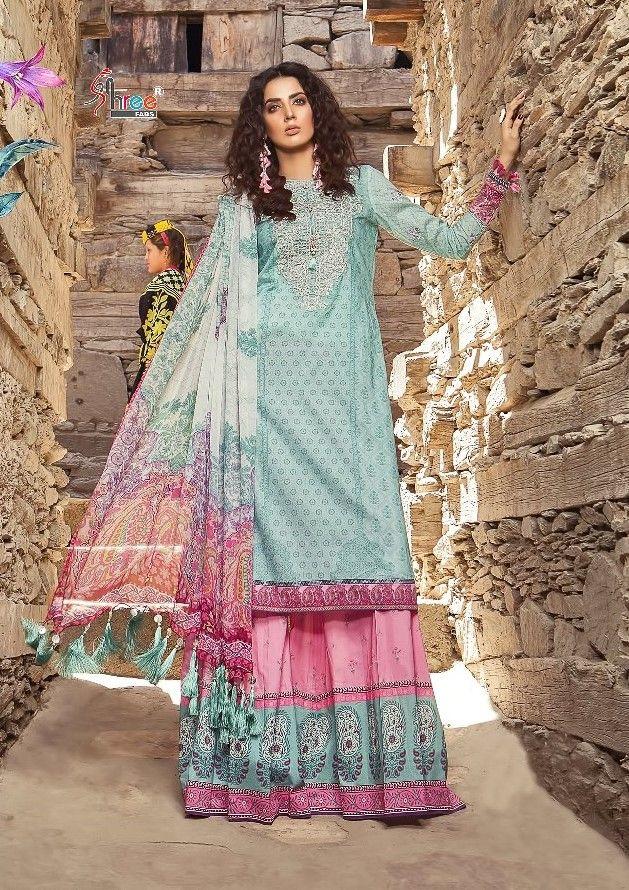 dd505f1a5f Shree Fab Maria B M Print Pakistani Suit Collection (8 Pc Set ...