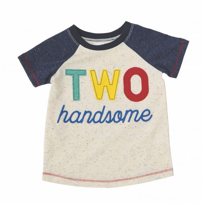 Two Handsome T Shirt By Mud Pie Toddler Birthday Party Ideas Boy Birthday Boy Shirts 2nd Birthday Boys