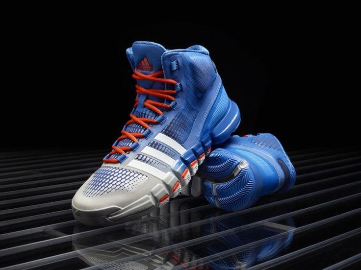 Blu e arancione adidas scarpe da basket, adidas femminili di basket