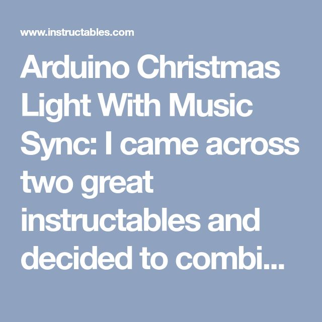 Arduino Christmas Light With Music Sync In 2020 Christmas Lights Christmas Light Controller Arduino