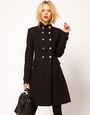 i love military coats and jackets - Mango Funnel Neck Military Coat