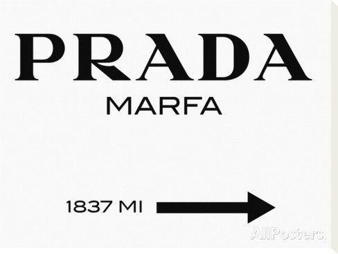Panneau Prada Marfa Reproduction sur toile tendue