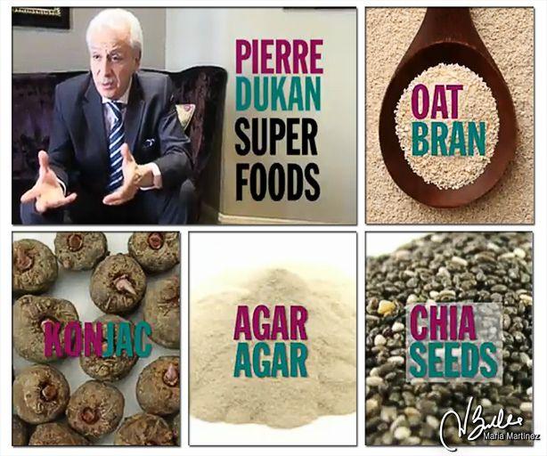Los cuatro superalimentos de la dieta Dukan: salvado de avena, konjac, agar y semillas de Chía.