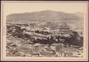 cca 1890 Budapest, a Tabán látképe, illetve a Mátyás templom a restaurálás…