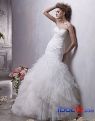 Voile and organza Ball gown strapless V-neck Halter sweep train sexy spring 2012 Anjolique Wedding Dresses AWD165  $399.00 (USD)