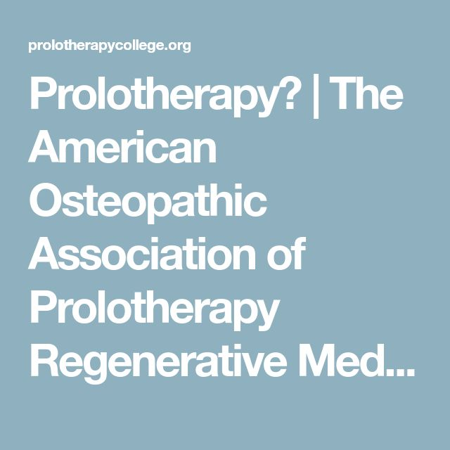 Prolotherapy? | The American Osteopathic Association of Prolotherapy Regenerative Medicine