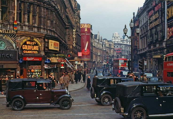 Piccadilly Circus, 1949, by Chalmers Butterfield