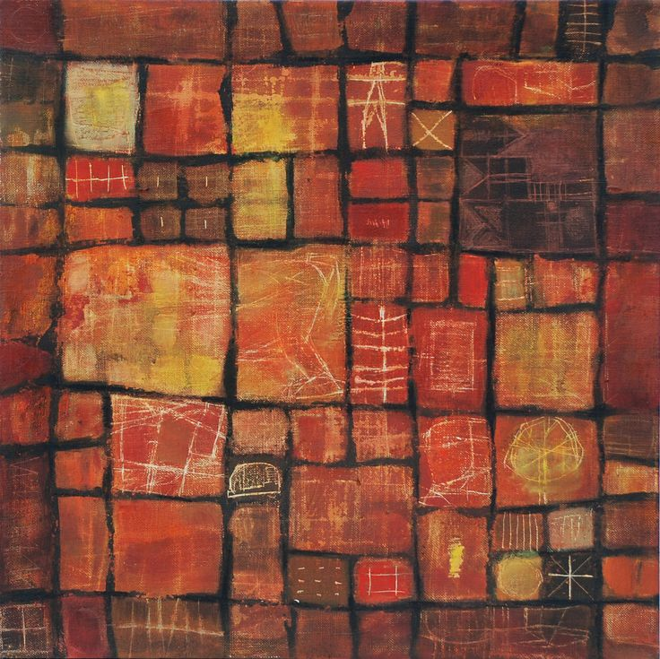 Textile series 3 de 4 mixed media on canvas 50 x 50 cm 2008
