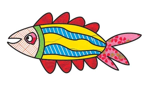 Grote enge vis....