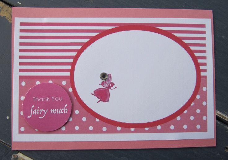 Handmade Fairy Party Thank You Card
