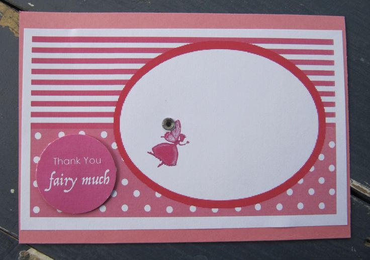 Handmade Fairy Party Thank You Card