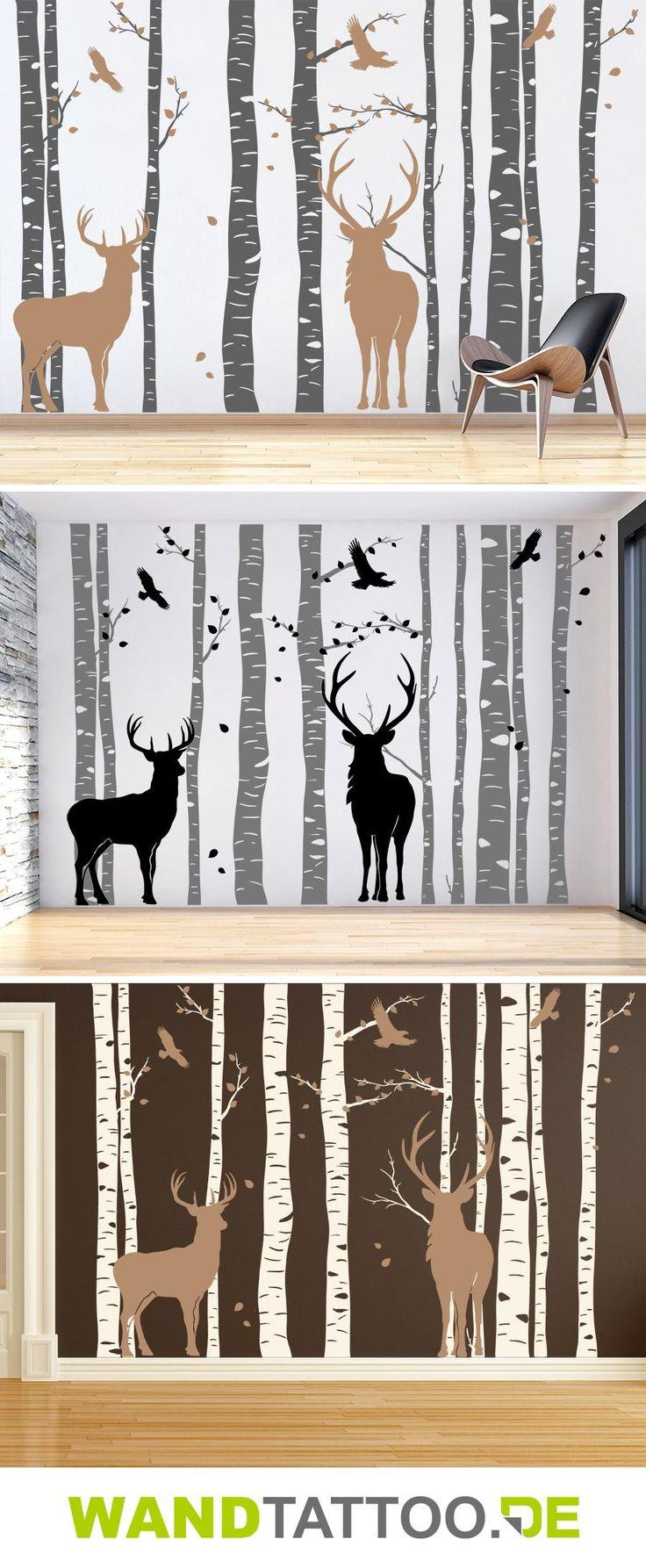 Wald mit Hirschen | Birkenwald