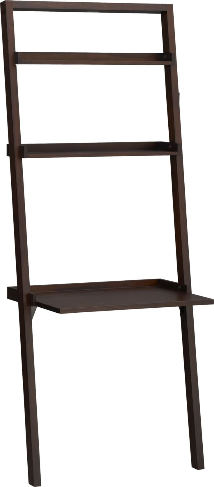 Sloane Java Leaning Desk  | Crate and Barrel