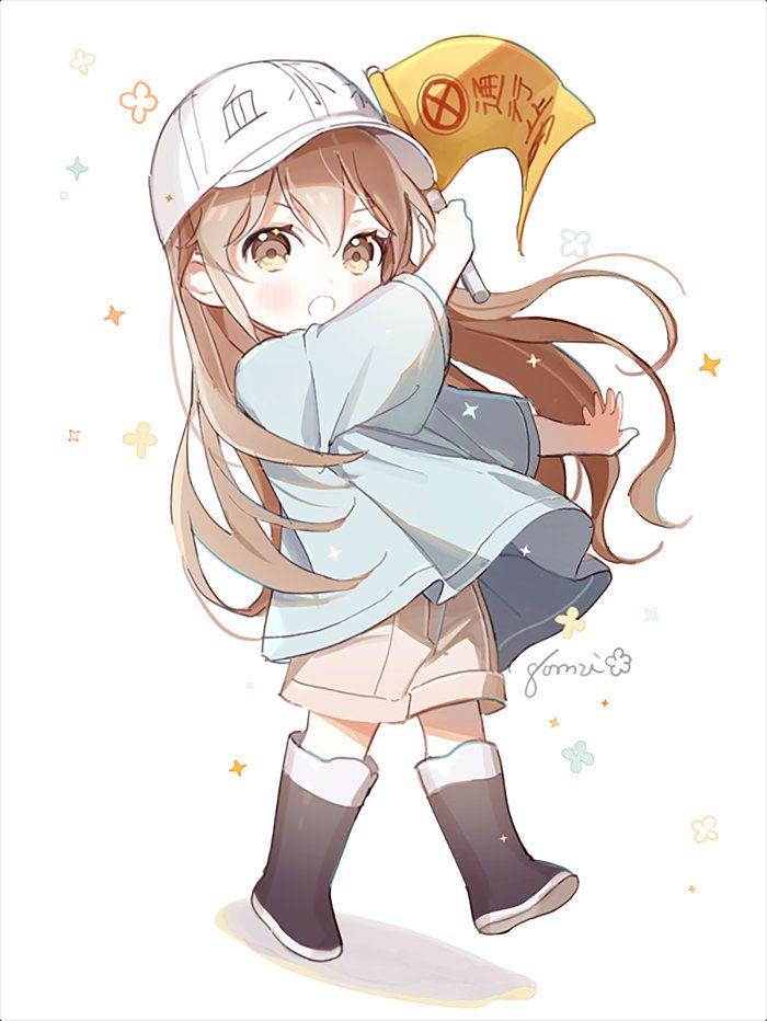 Small Platelet Hataraku Saibou Anime Animegirl Animeboy Animealert Cute Cutegirl Otaku Cute Anime Chibi Anime Anime Chibi
