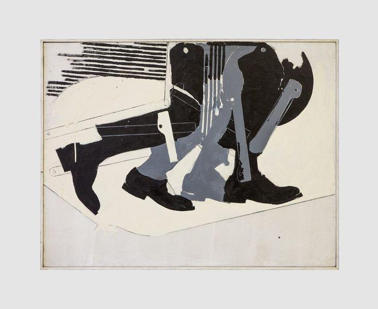 Mario Schifano, Alla Balla, 1963. Collezione Dina Carola, Napoli. In comodato a Madre · museo d'arte contemporanea Donnaregina, Napoli. Foto © Amedeo Benestante.