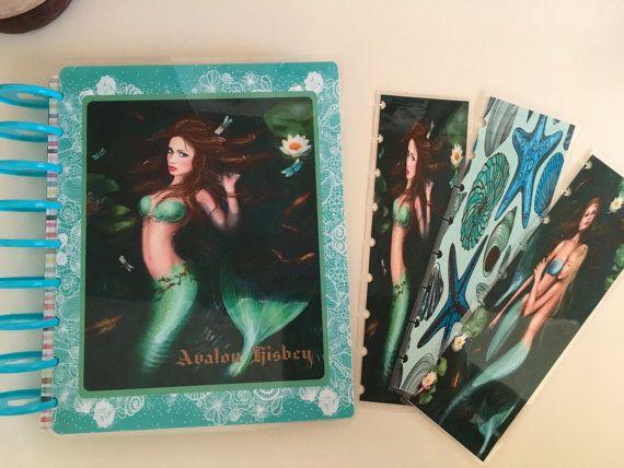Fantasy Mermaids cover for Erin Condren Happy Planner and