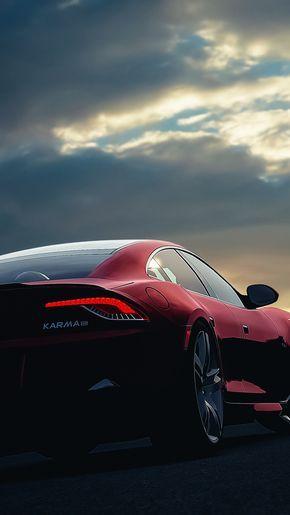 Fisker Karma Car Sunset Night Sky #iPhone #7 #wallpaper