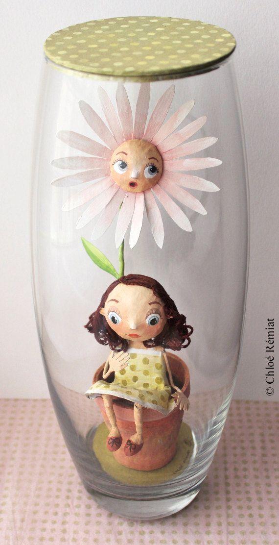 "Jar ""Marguerite"", OOAK DOLL"