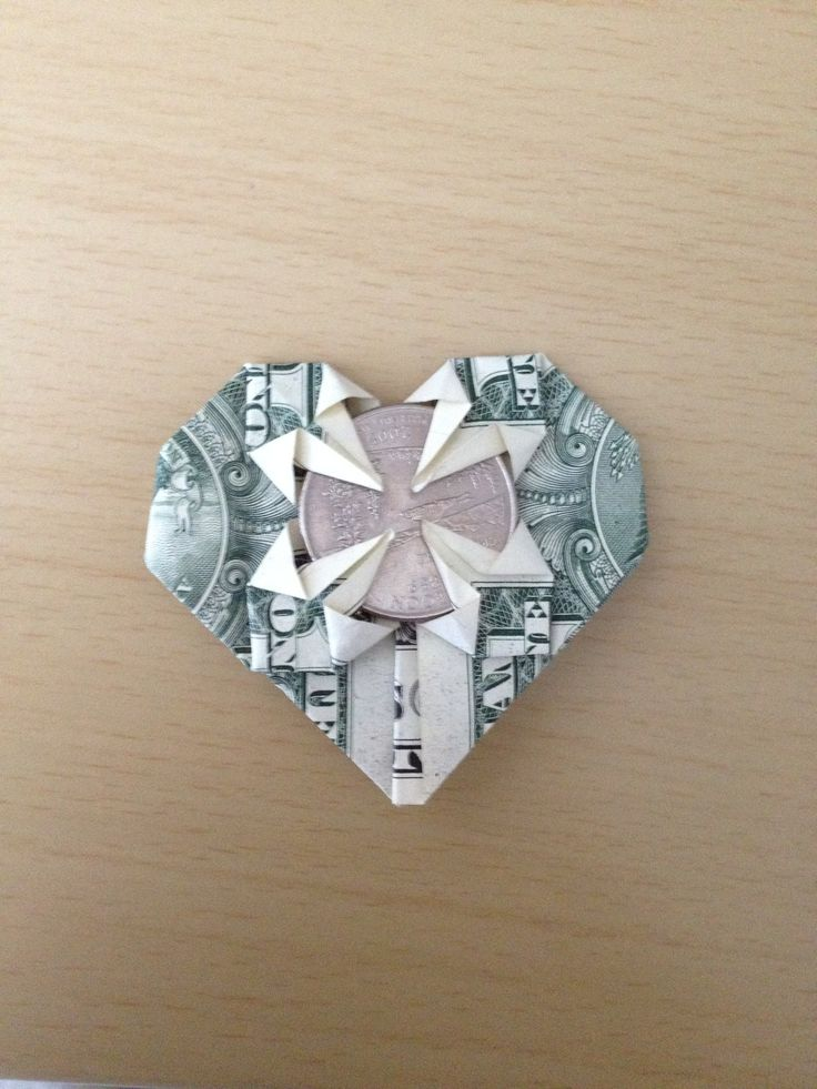 How to Make a Dollar Heart That Holds a Quarter