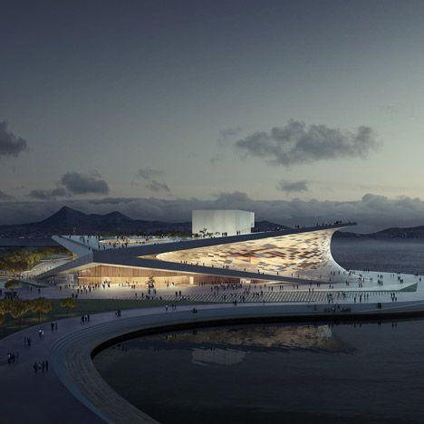Snøhetta has won a competition to design the waterside Busan Opera House in South Korea.
