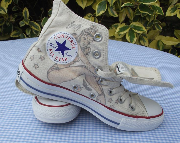Converse All-Star - Sailor Jerry Exclusive Hi-Tops Size 5 UK - 37.5