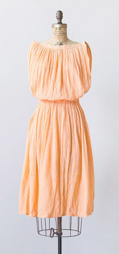 melon gourd dress | vintage 1980s dress