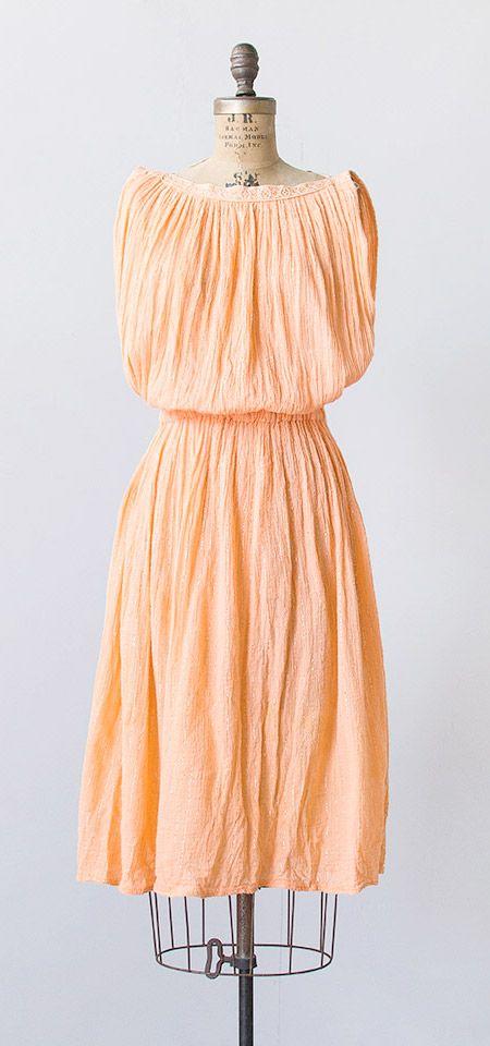 melon gourd dress | vintage 1980s dress