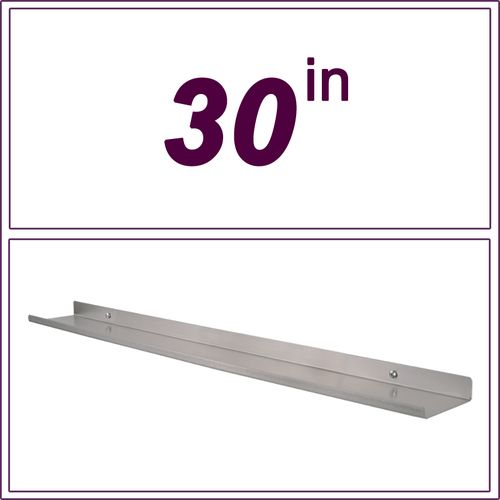 30inch long and 3.5inch deep stainless steel metal over the range shelf, floating wall shelve, spice rack, range shelf, stove shelf, picture rail,