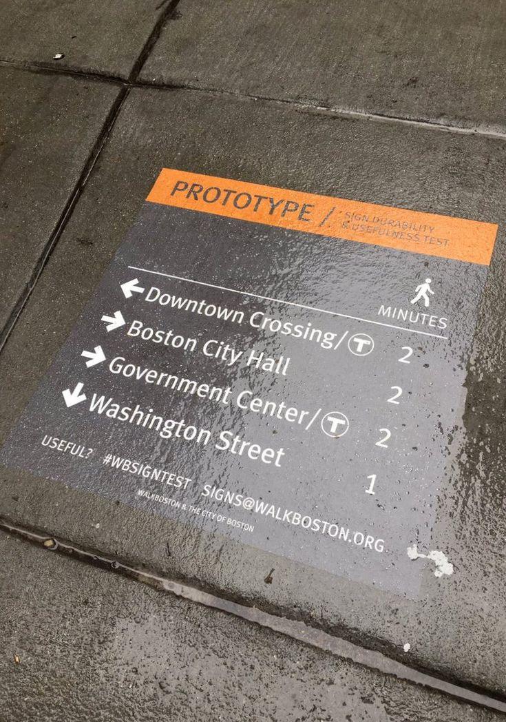 Street-level wayfinding test via @walkboston. Click image to tweet and visit the Slow Ottawa boards >> https://www.pinterest.com/slowottawa/