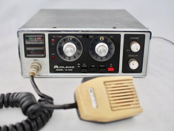 Vintage Midland CB Radio Model 13-505 with Mic by MySistersNook Etsy called this a CB...I'm pretty sure it is a 2 meter rig.