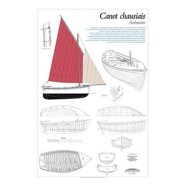 Anémone, Canot de Chausey, plan de modélisme | Au milieu du XXe siècle à Chausey, quelques plaisanciers adoptent le canot de pêche local. Ce sont des unités de 11 à 13 pieds de longueur, qui d'avril à octobre traquent le homard aux casiers, à moins qu'elles n'arment à la ligne de traîne ou au filet. Ces bateaux robustes sont propulsés à la voile, à la godille ou à l'aviron | A retrouver sur : http://www.chasse-maree.com/modelisme/3756-plan-de-modelisme-anemone-canot-de-chausey.html