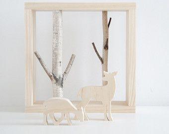 arte di betulla bianca foresta/mensola 18x12 di urbanplusforest
