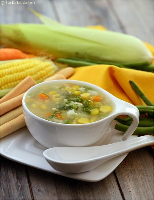 Sweet Corn and Vegetable Soup